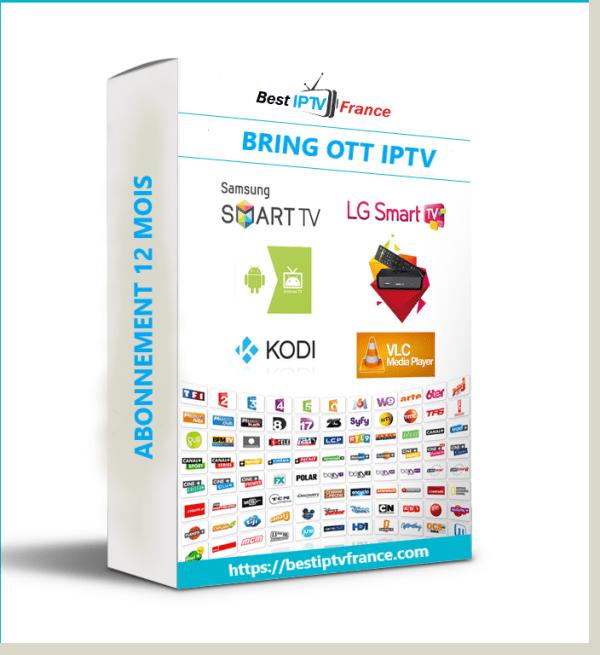 Abonnement BRING OTT IPTV 12 mois