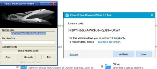 EaseUS Data Recovery Wizard Serial key
