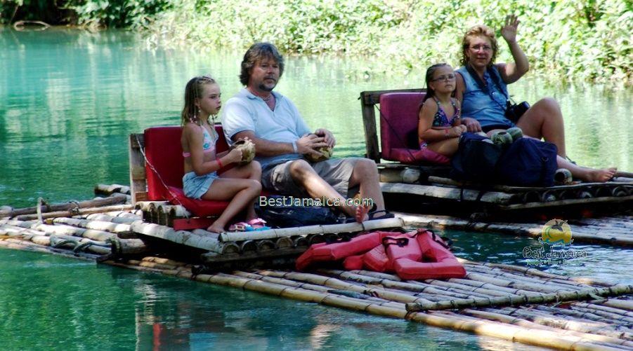 Rafting on the Martha Brae