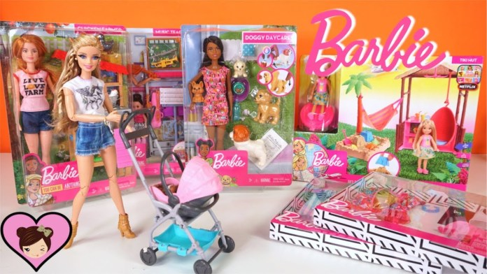 NEW Barbie Toys Holiday Unboxing –  Baby Stroller, Chelsea House, Barbie Careers & More!