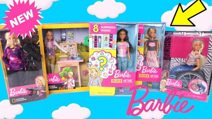 NEW Barbie Toy Unboxing Surprise Outfits, Doll Wheelchair, Babysitter Nursery Careers