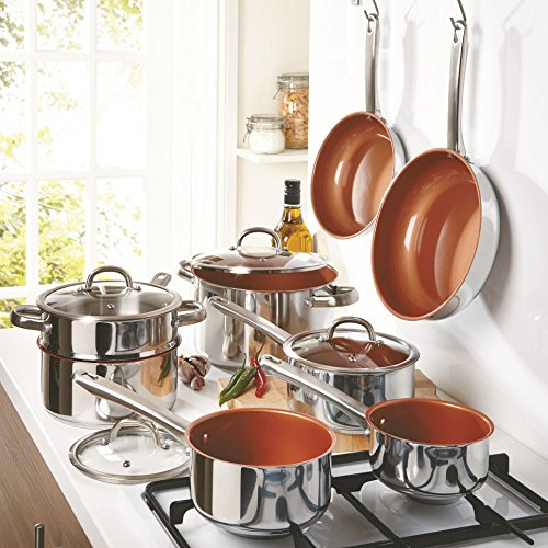 Cermalon-12-Piece-Stainless-Steel-Copper -cookware Set