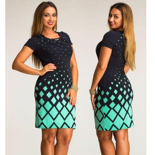 Fashionable Women Dresses Office Bodycon Dress