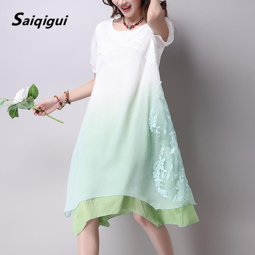 cute clearance prices incredible prices Women Summer Dress Cotton Linen Dresses - BestLadyDress