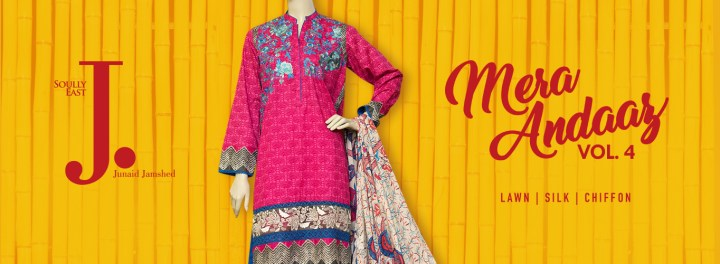 J. Junaid Jamshed Lawn Collection 2018