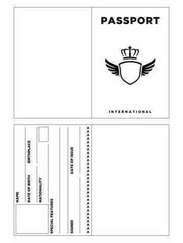 free printable blank sample passport