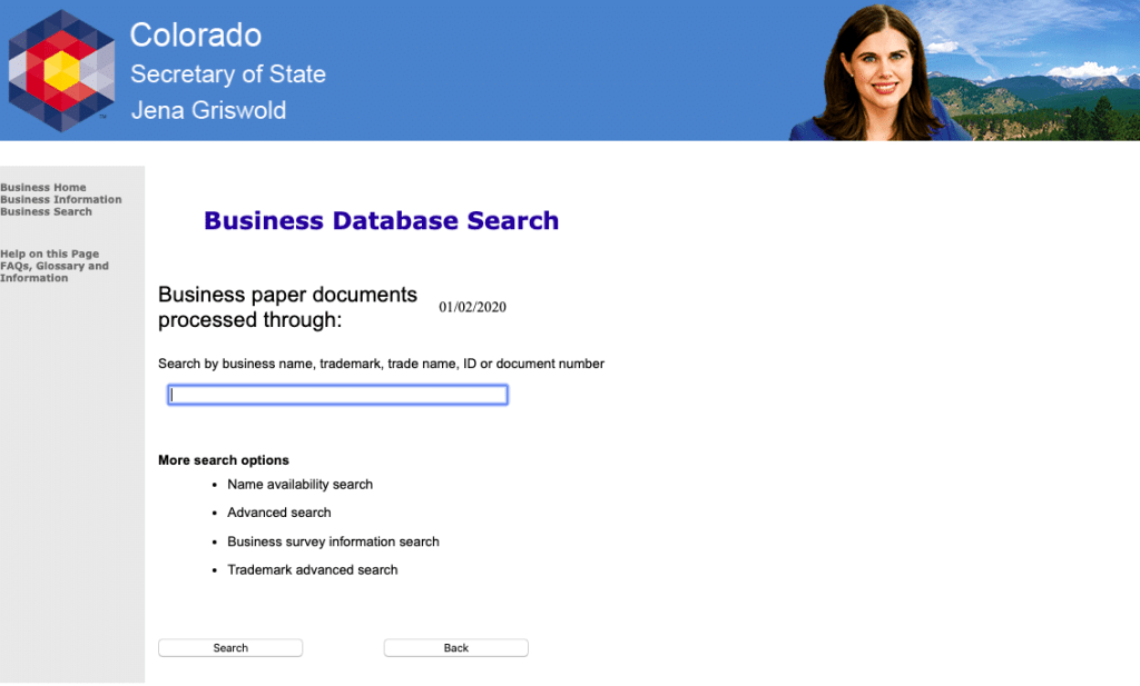 Colorado business search