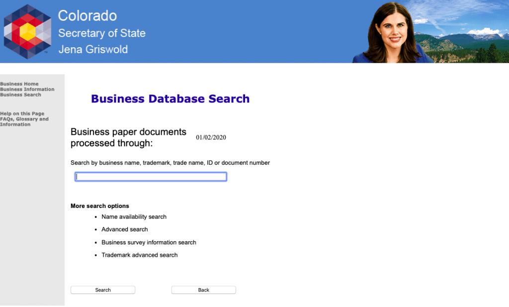 Colorado business search