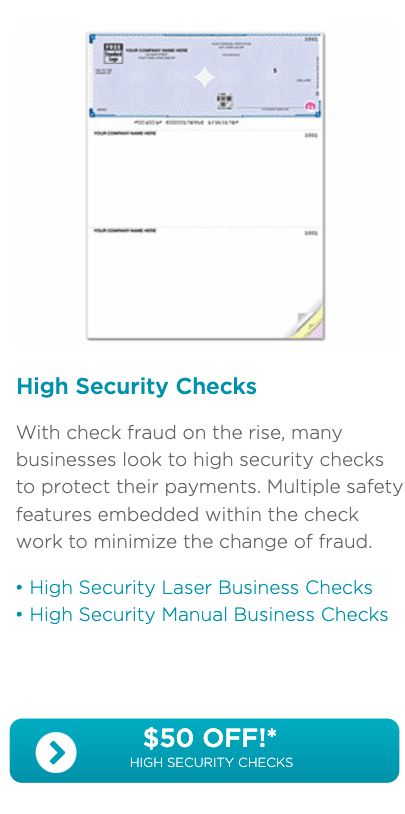 Deluxe High Security Checks