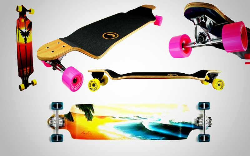 Yocaher Professional Speed Drop Down Stained Complete Longboard Review