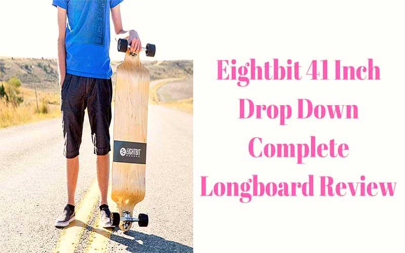 "MOOSE Longboard Skateboad Deck 8/"" x 40/"" Drop Down Lowrider Cruiser Maple"