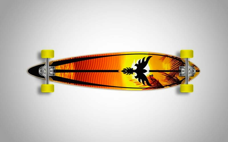 Yocaher Punked Graphic Pintail Complete Longboard Skateboard Review