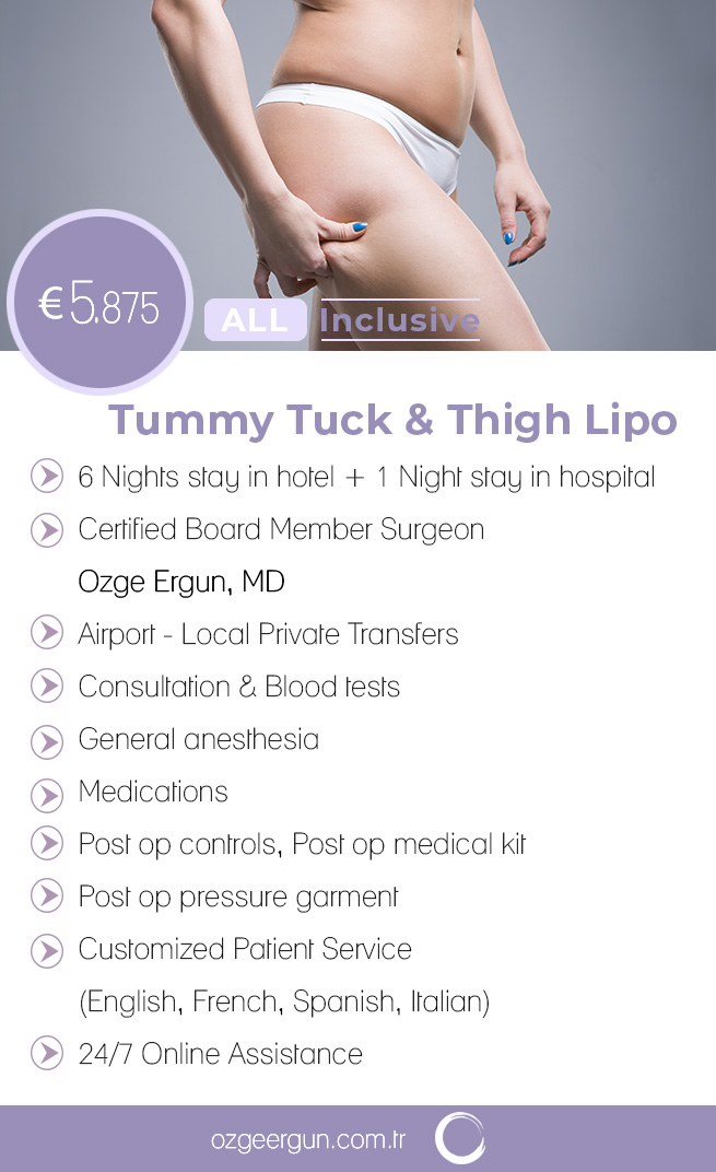 Tummy Tuck & Thigh Lipo All Inclusive Package