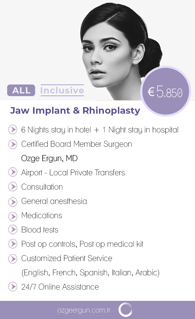 Jaw Implant & Rhinoplasty All Inclusive Package