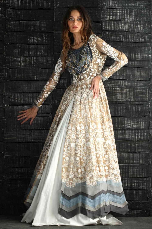 Anarkali Gown Heavy Formal Dress by Nida Azwer