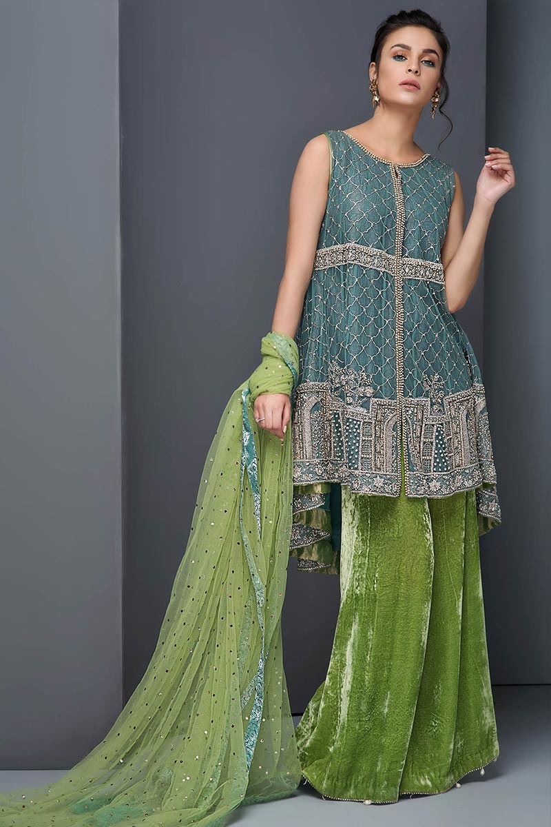 Green Mehendi Outfit