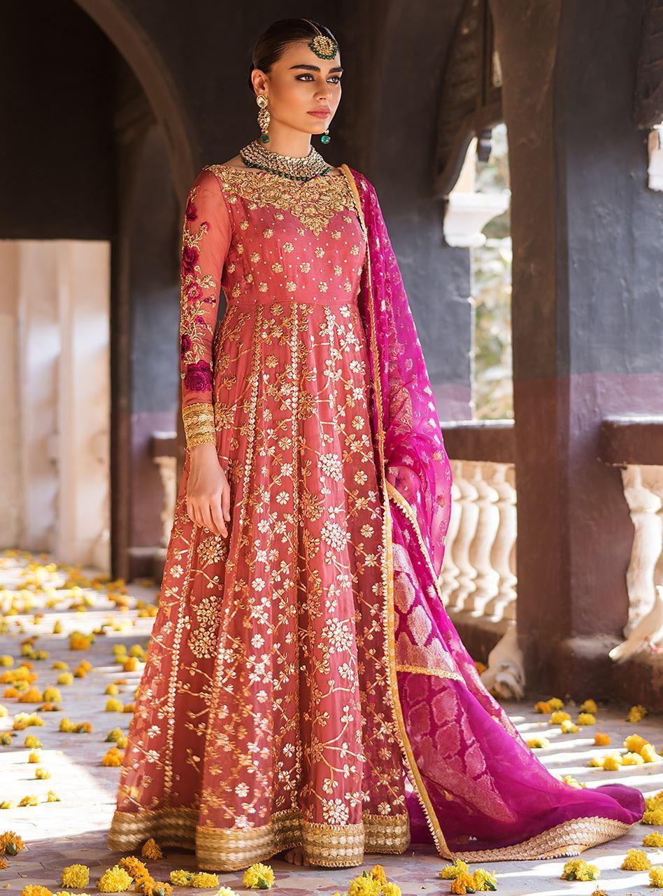 Pakistani Designer Mehndi Dresses - Zainab Chottani