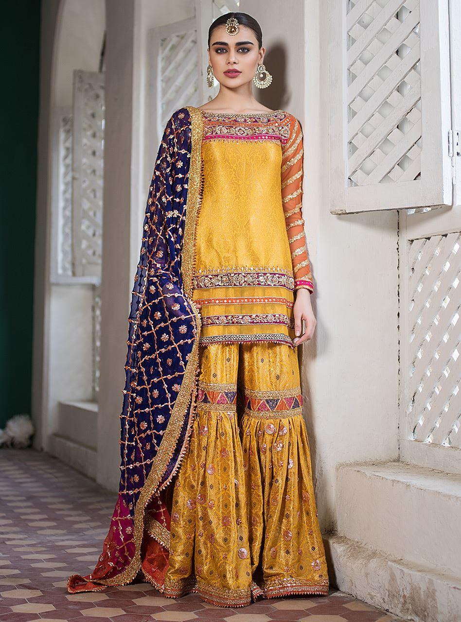 Yellow Mehndi Dress - Zainab Chottani Bridal Collection 2019
