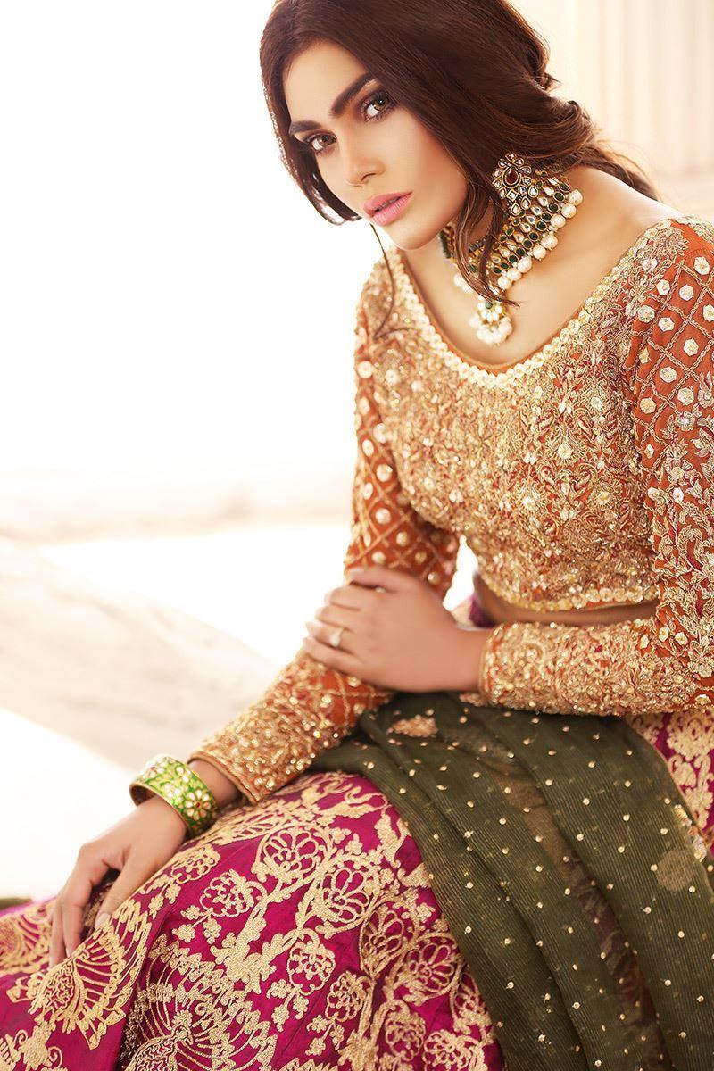 Aisha Imran Bridal Mehndi Dress