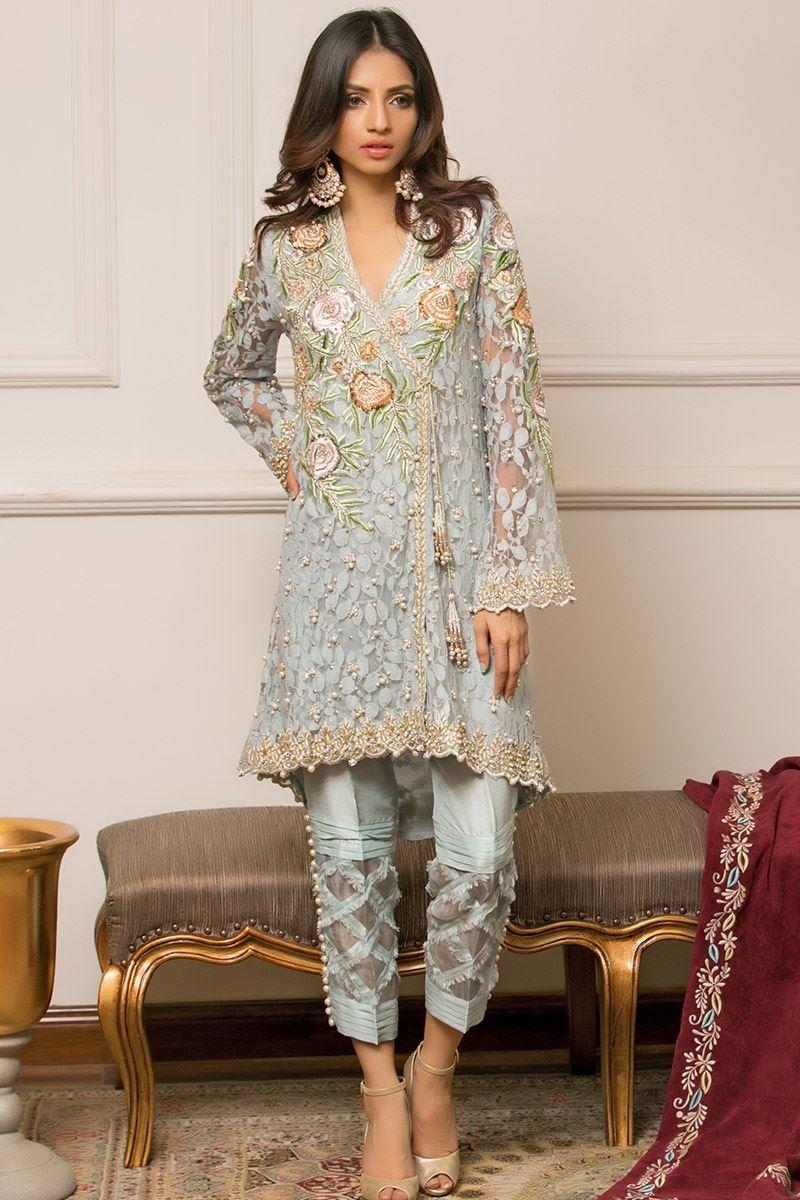 Angrakha Style Mehndi Outfits by Annus Abrar