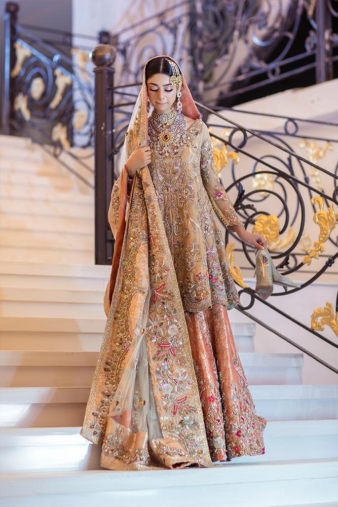 Bridal Mehndi Outfit by Ammara Khan
