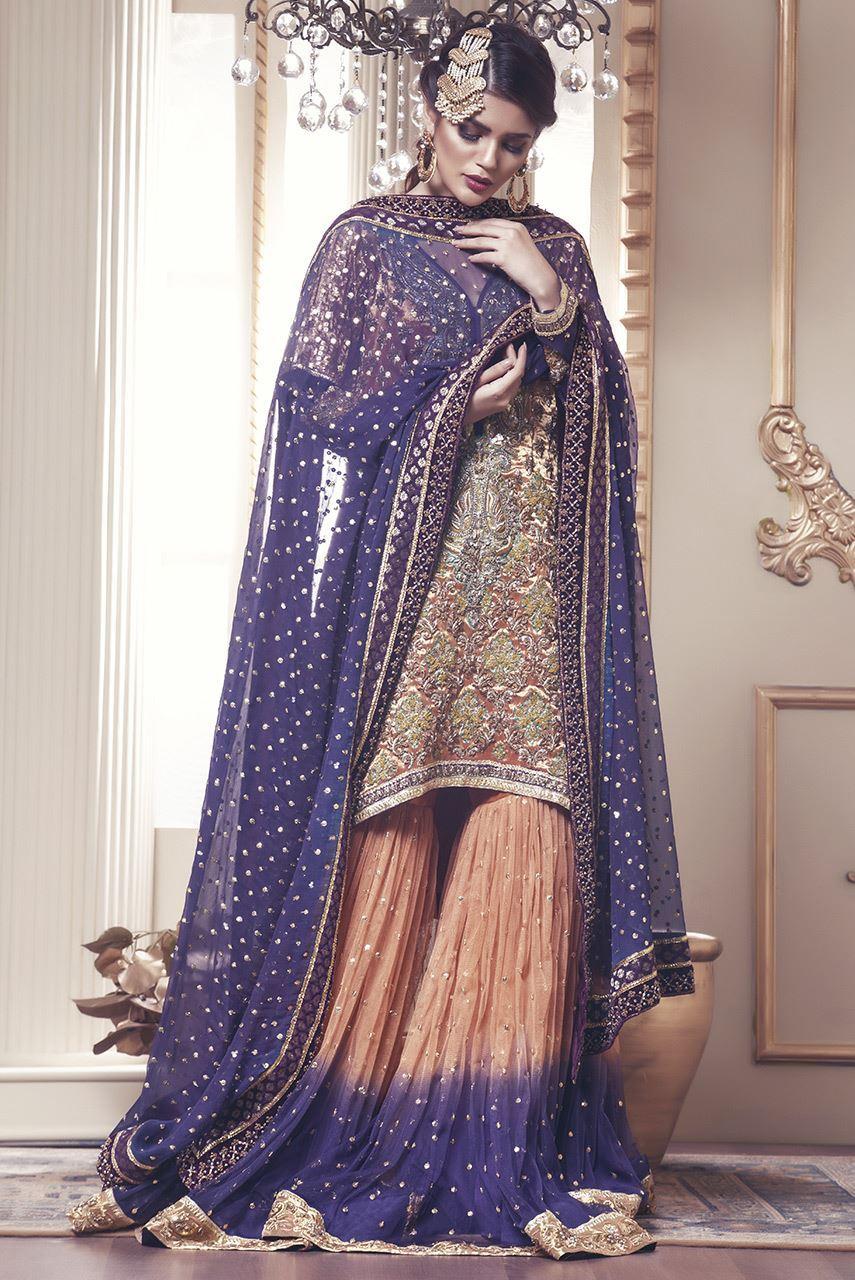Mehndi dresses sharara simple