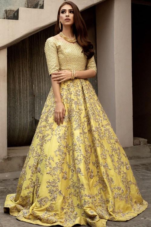 Yellow Mehndi Dresses by Zuria Dor