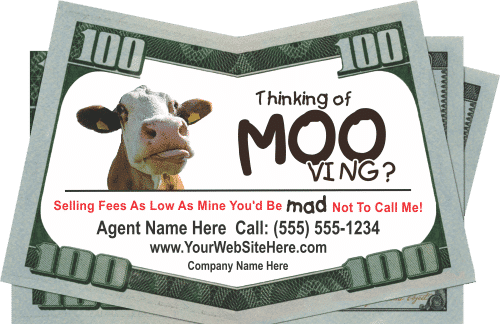Real Estate - Thinking of Moo-ving Drop Cards
