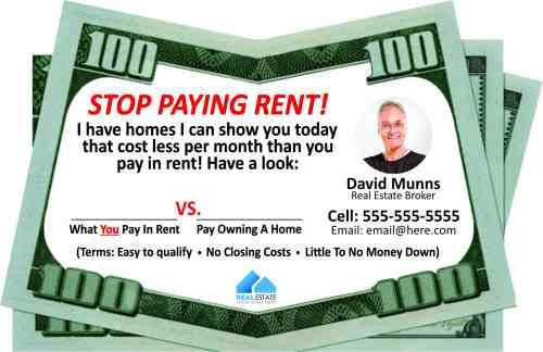Product - Stop Paying Rent - drop card idea