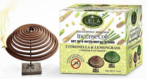 LIELA - Incense Coil Set of 6, Garden Incense Coil for Mosquito