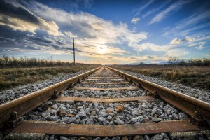 Picture of empty railroad