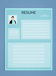 Image of resume