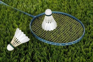Badminton on grass