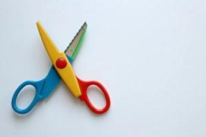 scissors with vivid colors