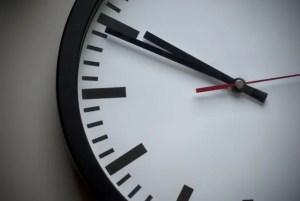 Close up of a clock.