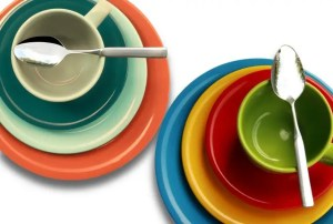 Dishes in different colors