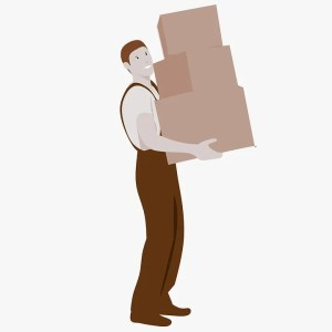 dealing with unorganized movers - a man moving boxes