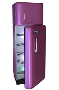 A purple fridge