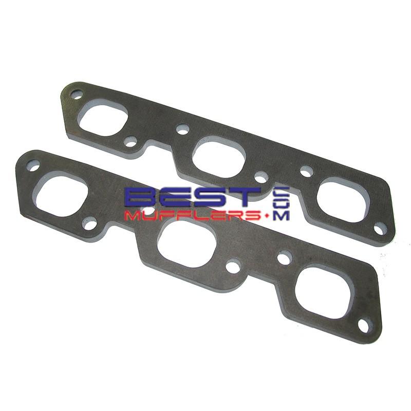 exhaust header flange plates holden commodore vs vt vy v6 ecotec engine 38mm 1 1 2 port 10mm thick fp83
