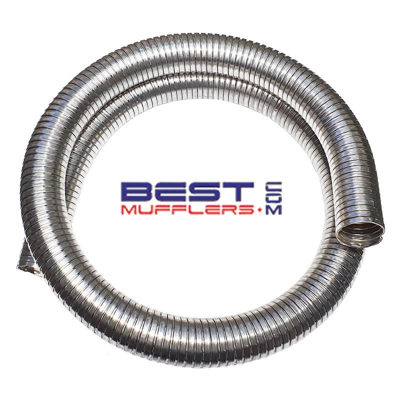 stainless steel truck flexible exhaust pipe tube 025mm id 1 0 1mtr long heavy duty ssf025 1
