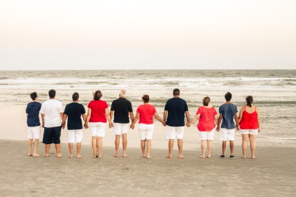 Wear colors on the beach
