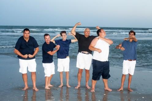 Goofy poses on the beach