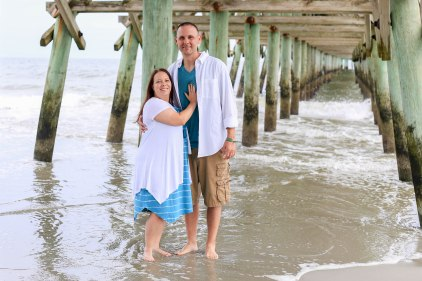Overcast produces soft light for family pictures