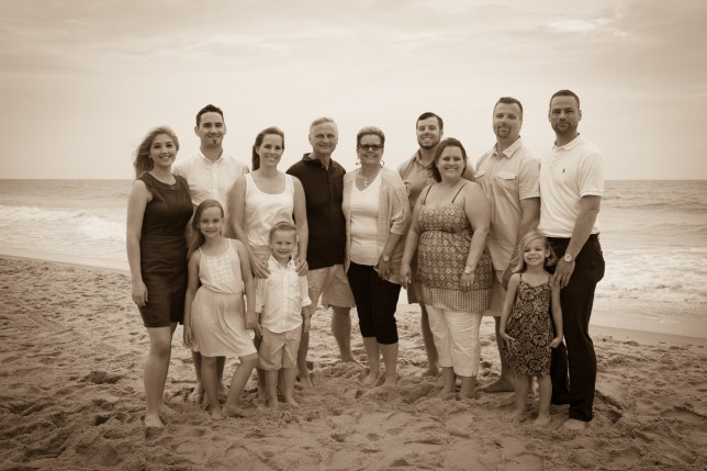 Black & White family reunion portraits on the Beach
