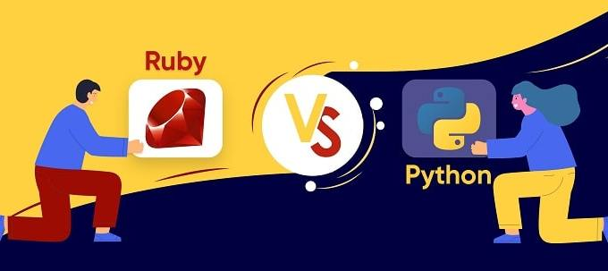 ruby on rails vs python programming language developer coding