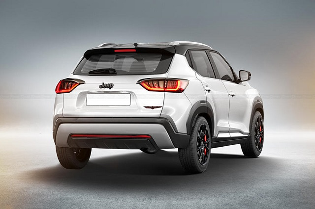 2022 Jeep Baby SUV rear view