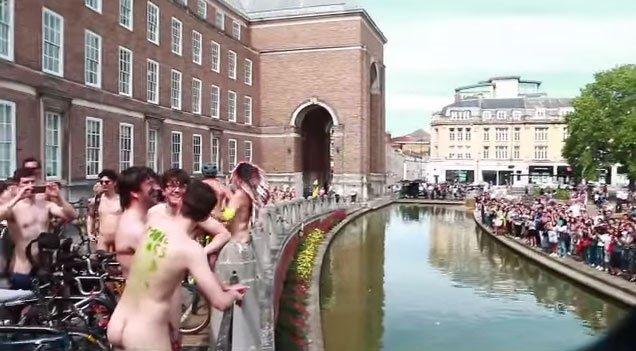 naked bike ride college green bristol
