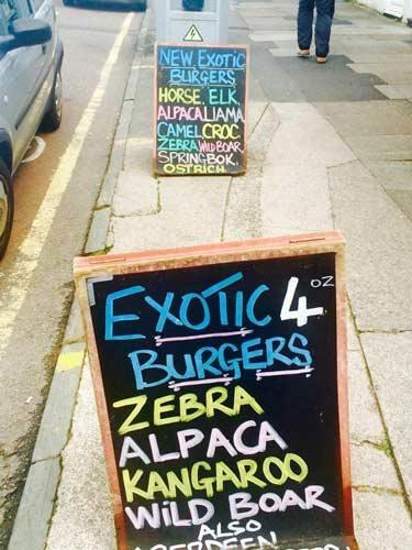 exotic burgers bristol