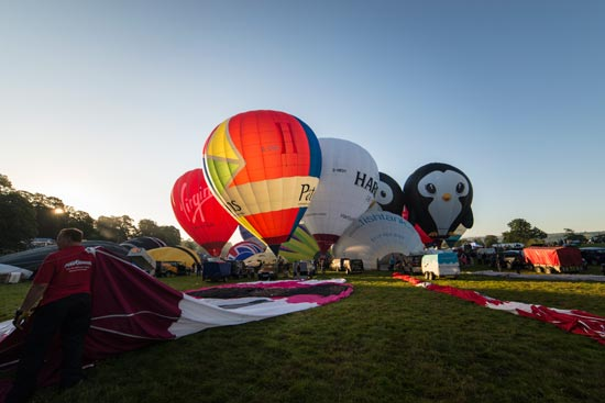 bristol balloons inflating
