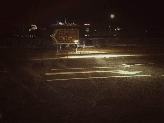Dismaland Road sign